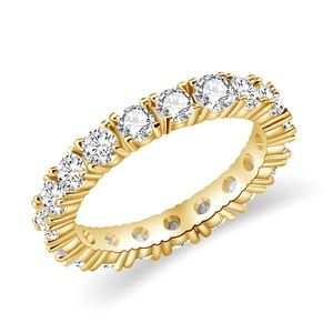 Jewelry - New Gold Plated Bezel Set Eternity Ring